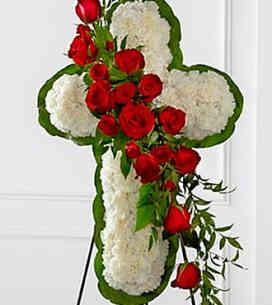 7S124464DO-Floral Cross Easel