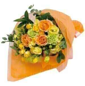 Bouquet in yellow and ora..