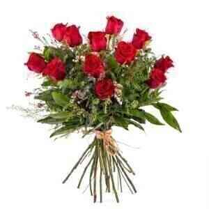 12 Long-stemme d Red Rose..