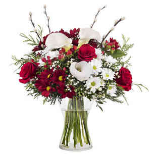 Harmony Bouquet Roses and Callas