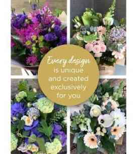 Great florist choice hand tied