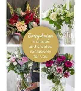 Choose florist with vase