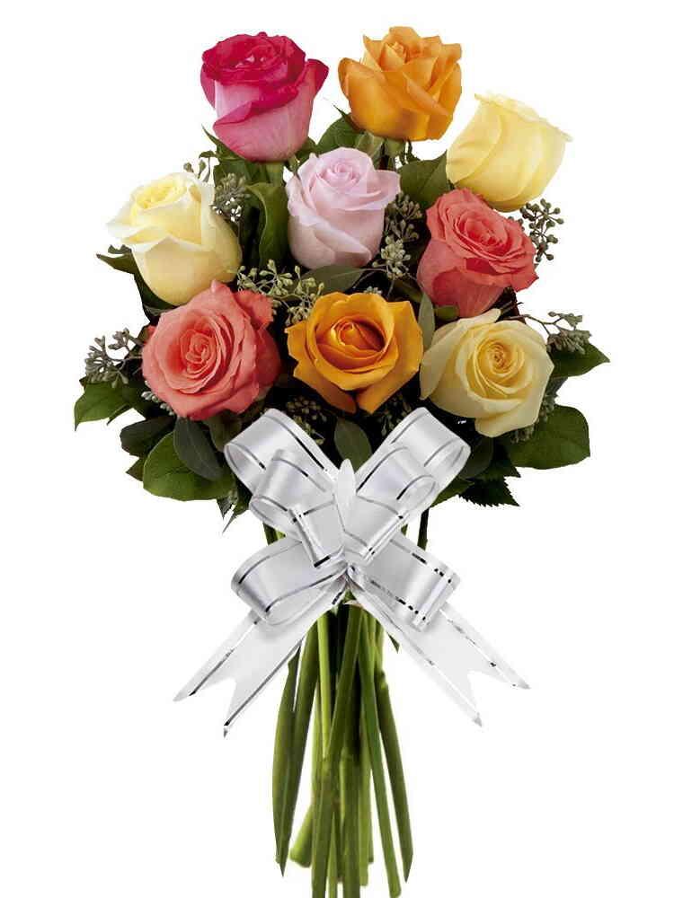 Bouquet 9 Rosas Coloridas..