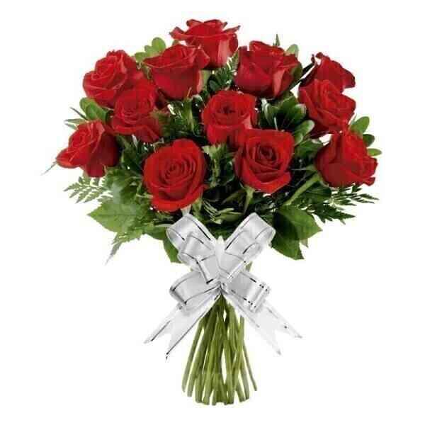 Bouquet com 12 Rosas Verm..