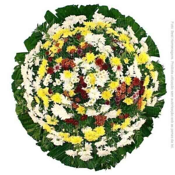 Coroa de flores Popular c..