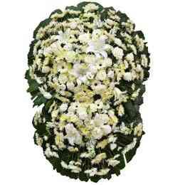 Coroa Flores Brancas Luxo..